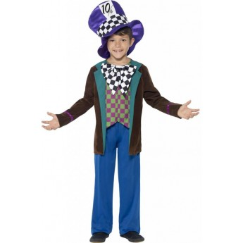 Deluxe Hatter Fancy Dress Costume