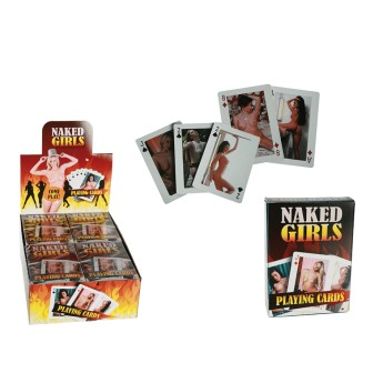 Naked Girl Playing Cards