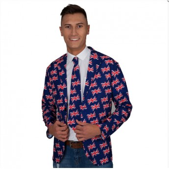 Union Jack Flag Jacket & Tie