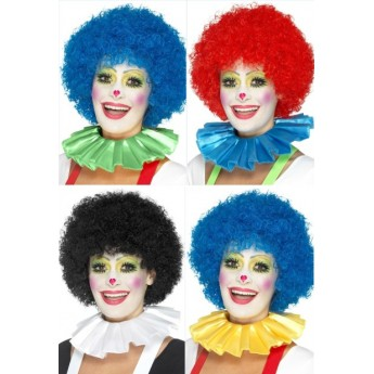 Clown Neck Ruffle Assorted Colours
