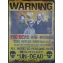 3D Lenticular Zombie Warning Poster