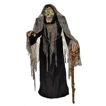 Pestilence The Smoldering Reaper Animated Halloween Horror Prop