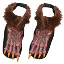 Werewolf Brown Shoe Covers