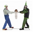Tug-Of-War Clowns Animated Halloween Props - PRE ORDER