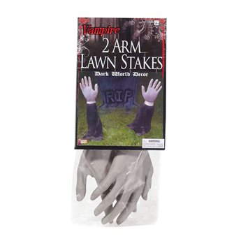 Zombie Lawn Stakes Halloween Prop